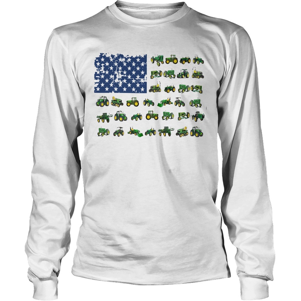 Independence Day American Flag Jeep Longsleeve Tee