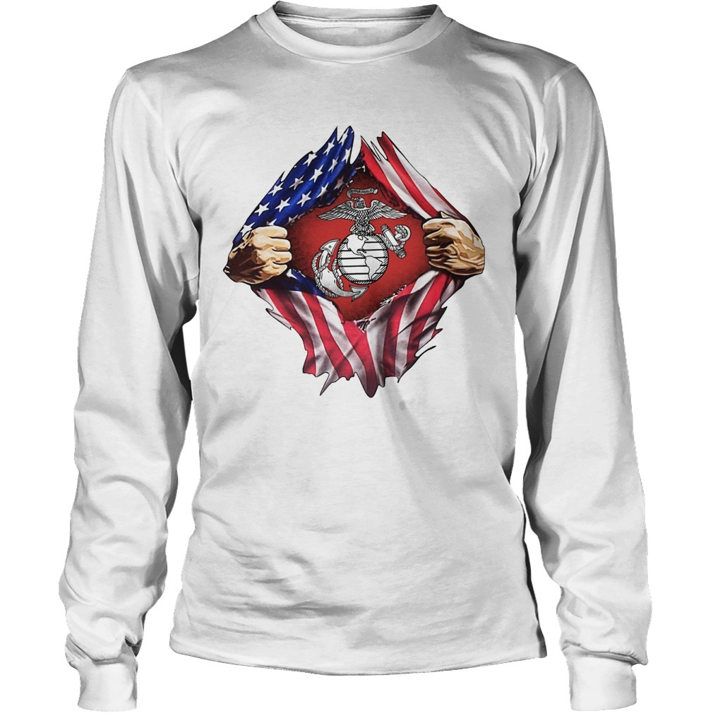 Independence Day American Flag Mr Classic Longsleeve Tee