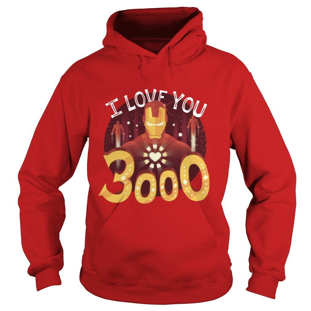 Iron Man Heart I Love You 3000 Hoodie