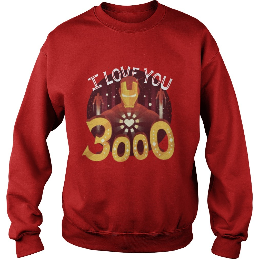 Iron Man Heart I Love You 3000 Sweater