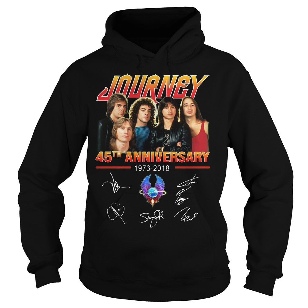 Journey 45th Anniversary 1973 2018 Signatures Hoodie