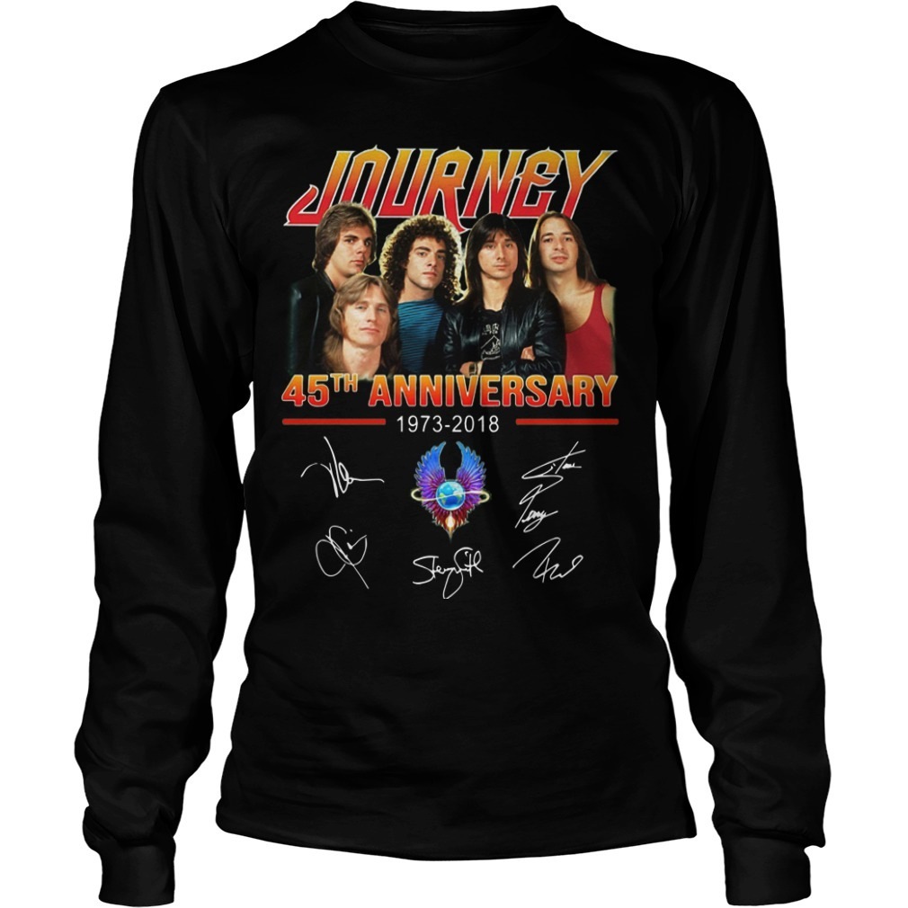 Journey 45th Anniversary 1973 2018 Signatures Longsleeve Tee
