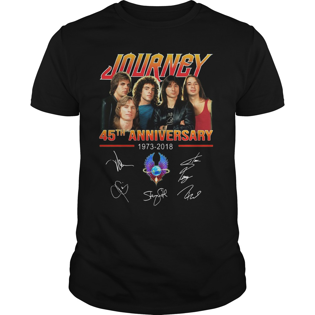 Journey 45th Anniversary 1973 2018 Signatures Shirt