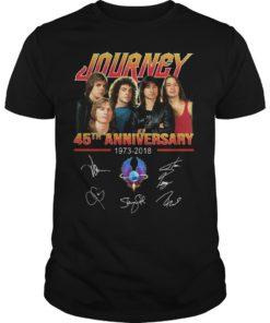 Journey 45th Anniversary 1973 2018 Signatures Shirt
