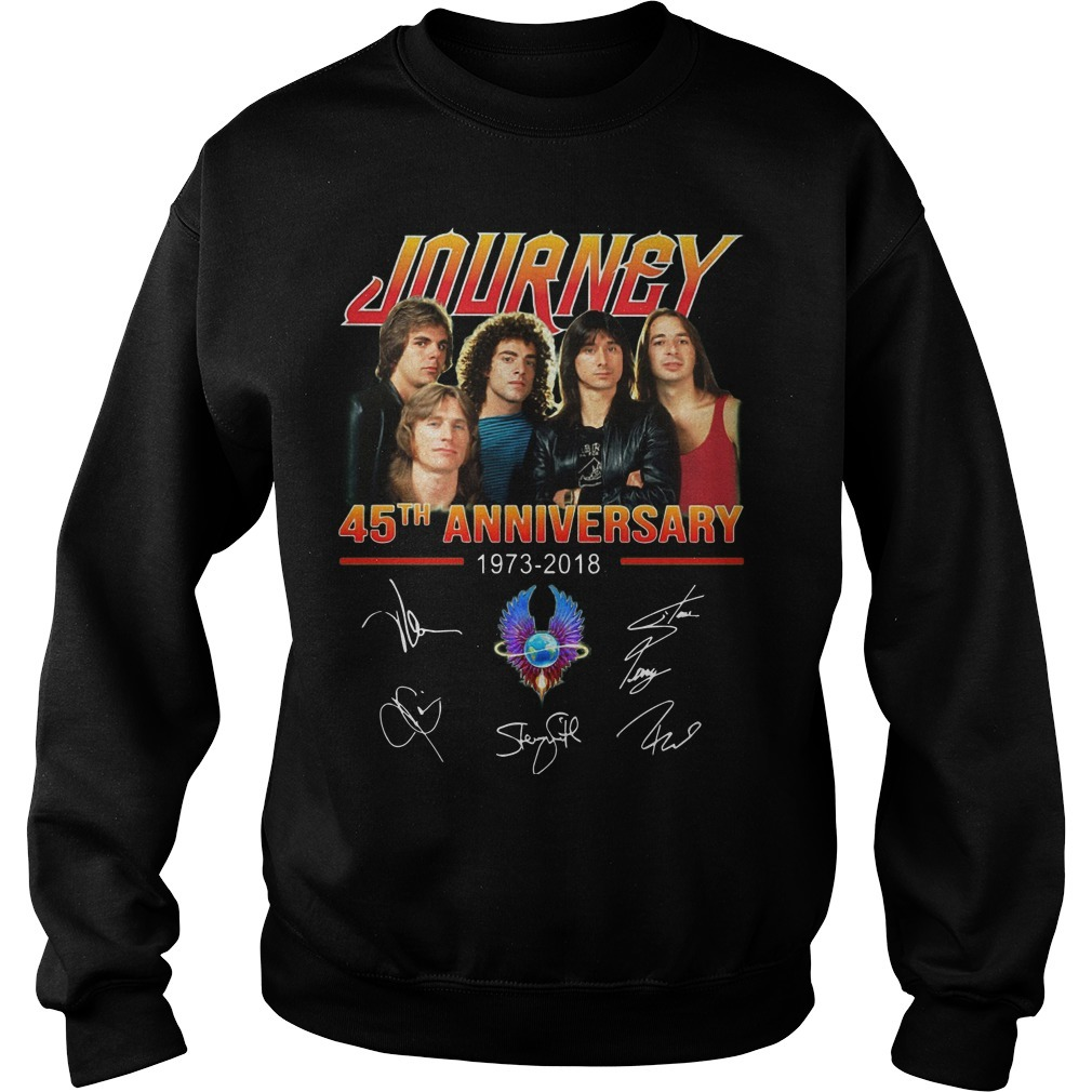 Journey 45th Anniversary 1973 2018 Signatures Sweater
