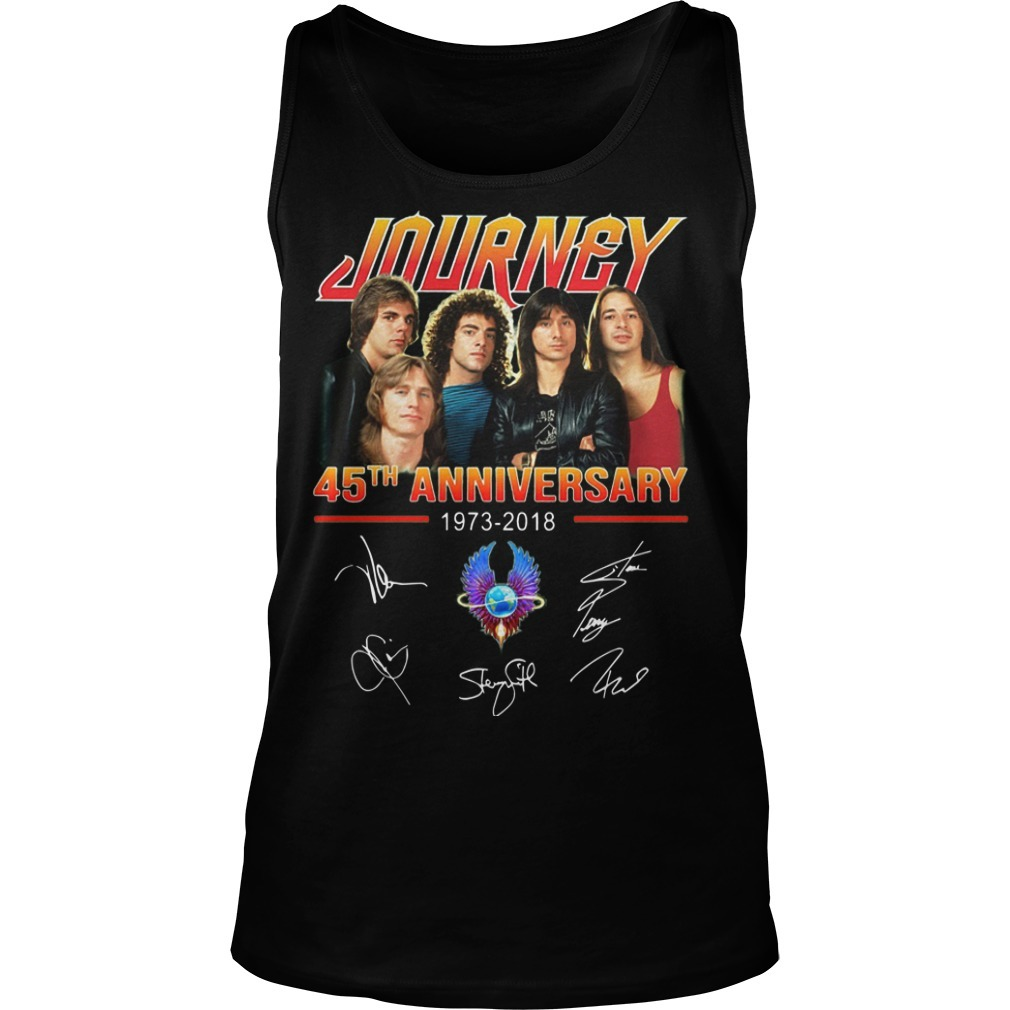 Journey 45th Anniversary 1973 2018 Signatures Tank Top