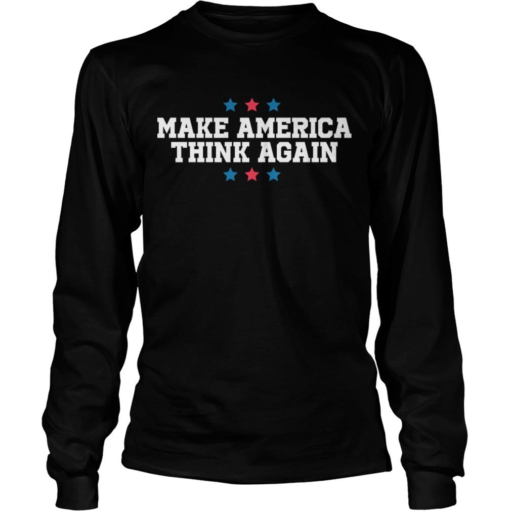 Linz Defranco Make America Think Again Longsleeve Tee