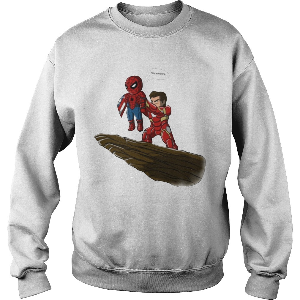 Lion King Spider Man And Iron Man Hey Everyone Sweater