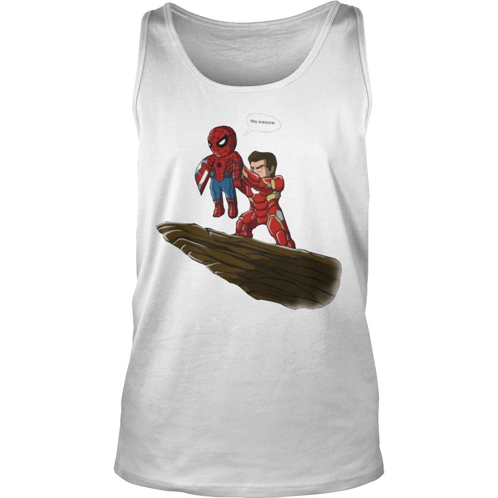 Lion King Spider Man And Iron Man Hey Everyone Tank Top