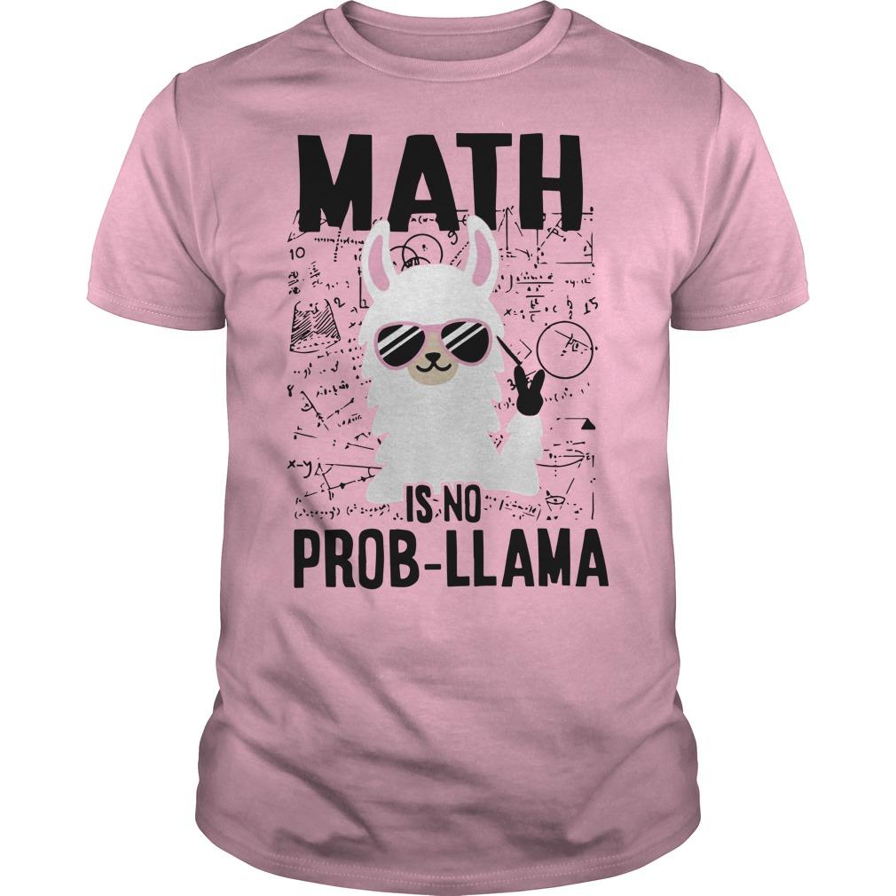 Llama Math Is No Prob-llama Fitted Guys Tee