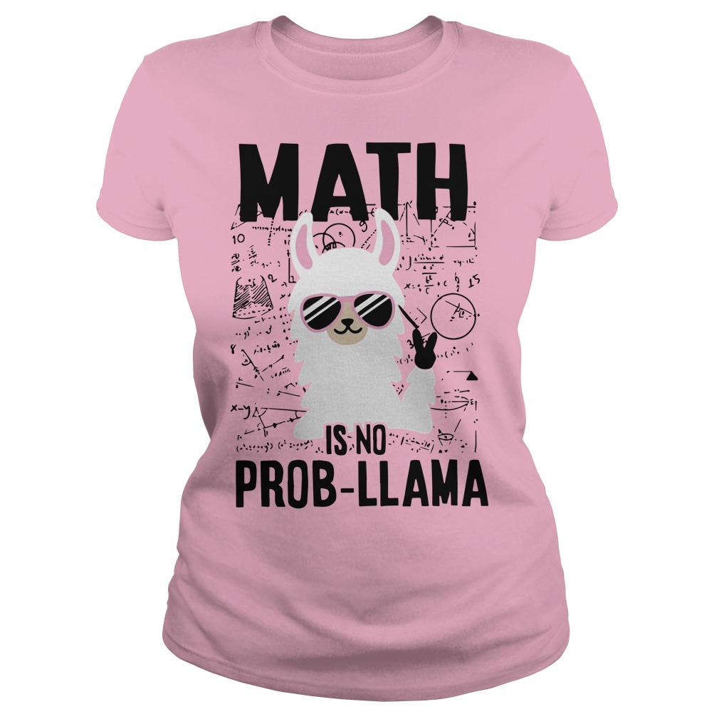Llama Math Is No Prob-llama Lady Shirt