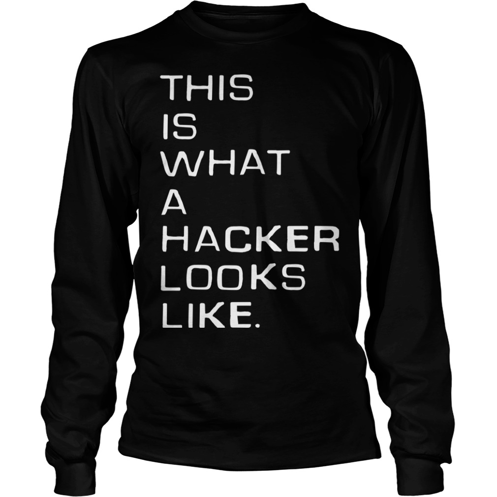 Marcus J. Carey This Is What A Hacker Looks Like Longsleeve Tee