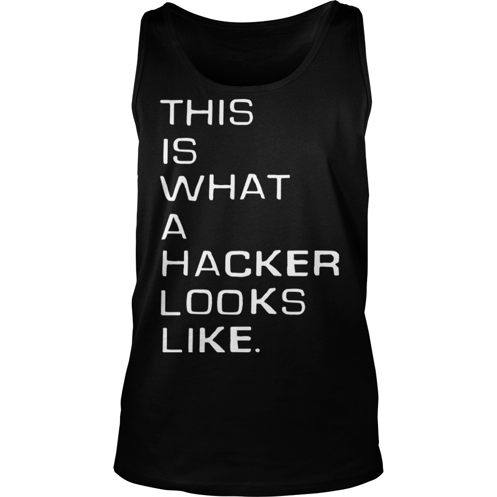 Marcus J. Carey This Is What A Hacker Looks Like Tank Top