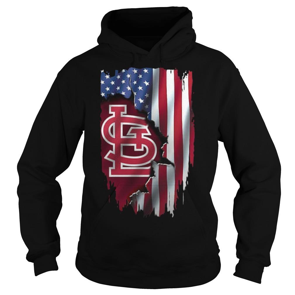 Mashup American Flag StLouis Cardinals MLB Hoodie