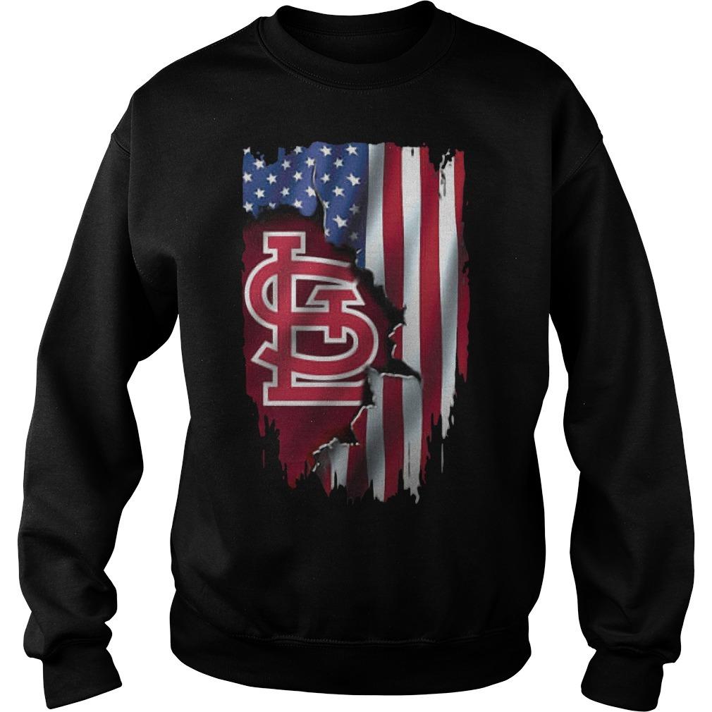 Mashup American Flag StLouis Cardinals MLB Sweater