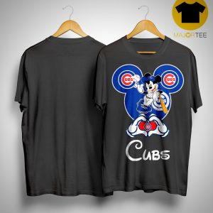 Mickey Mouse Baseball Chicago Cubs Shirt