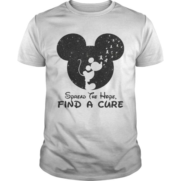 Mickey Spread The Hope Find The Cure Shirt