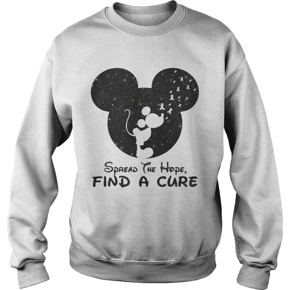 Mickey Spread The Hope Find The Cure Sweater