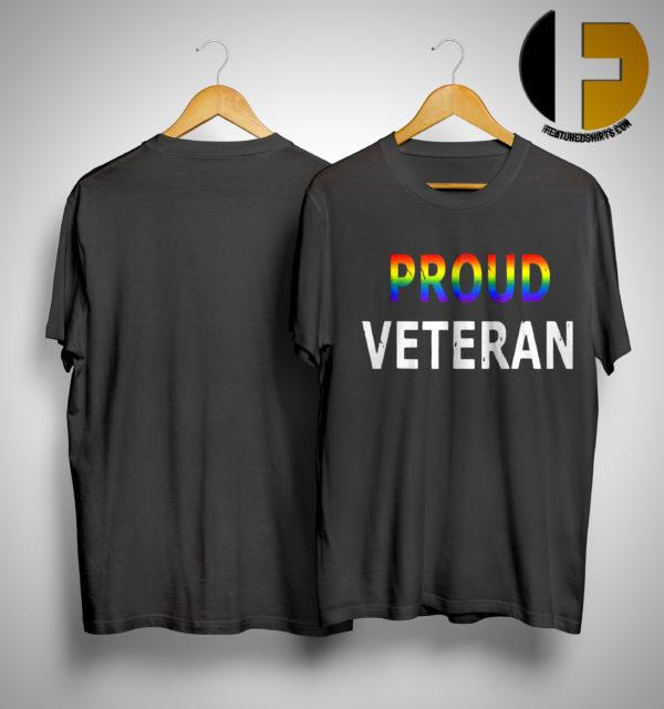 Pride Month Lgbt Proud Veteran Shirt