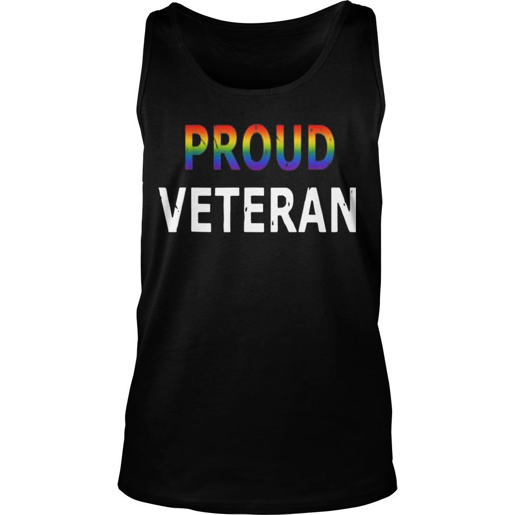 Pride Month Lgbt Proud Veteran Tank Top