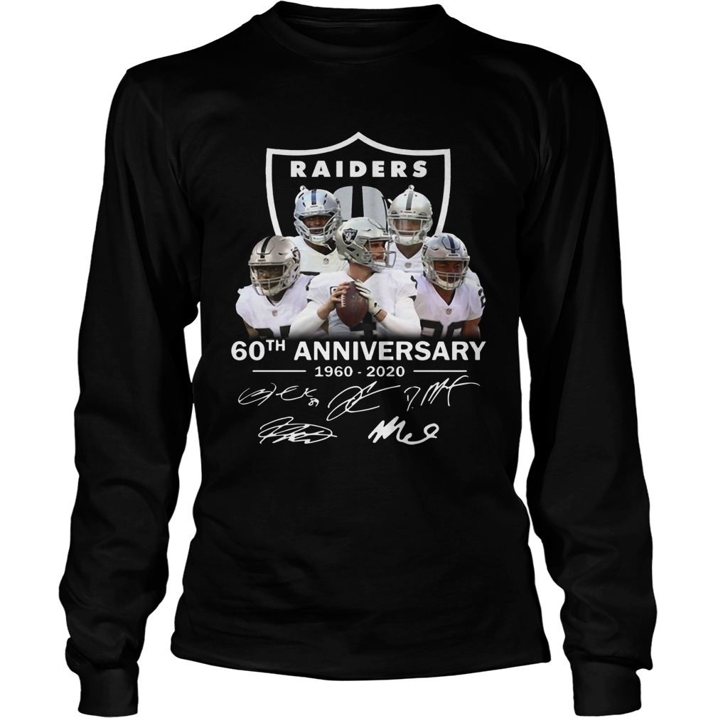 Raiders 60th Anniversary 1960 2020 Longsleeve Tee