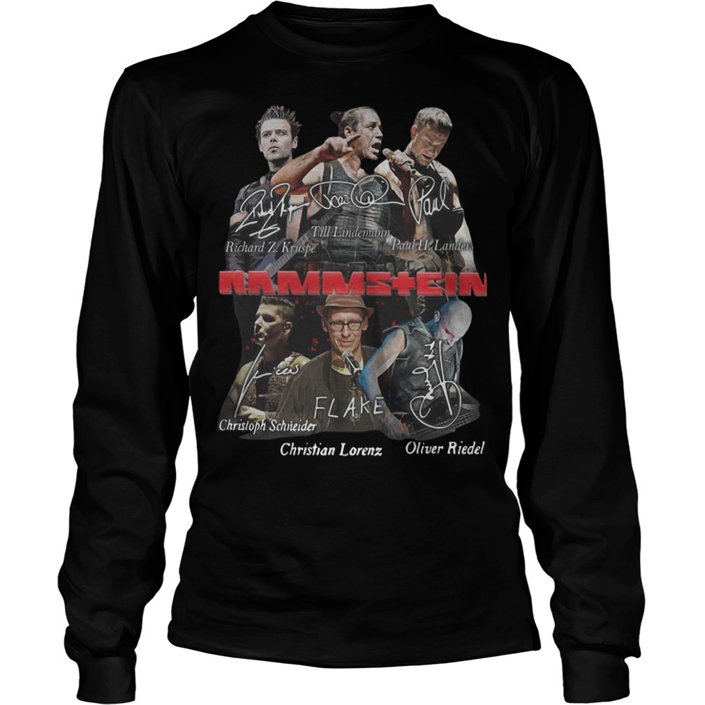 Rammstein Flake Signature Long Sleeve Tee
