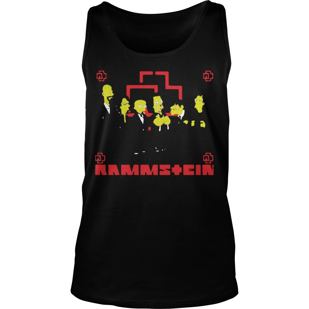 Rammstein Get The Simpsons Treatment Tank Top