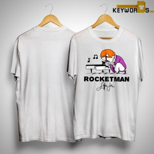 Rocketman Playing Piano In The Peanuts Style Signature Shirt