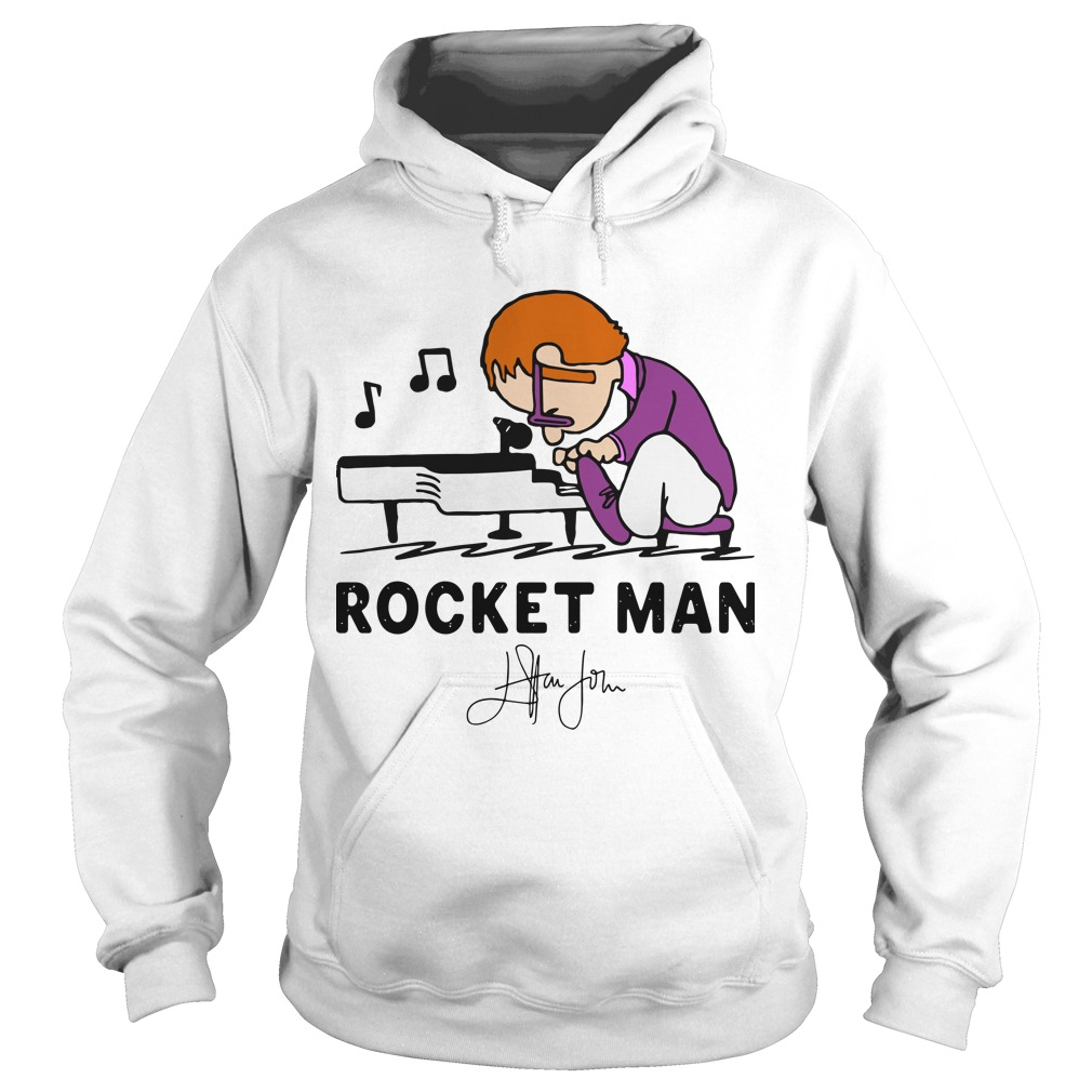 Rocketman Playing The Piano Signature Hoodie