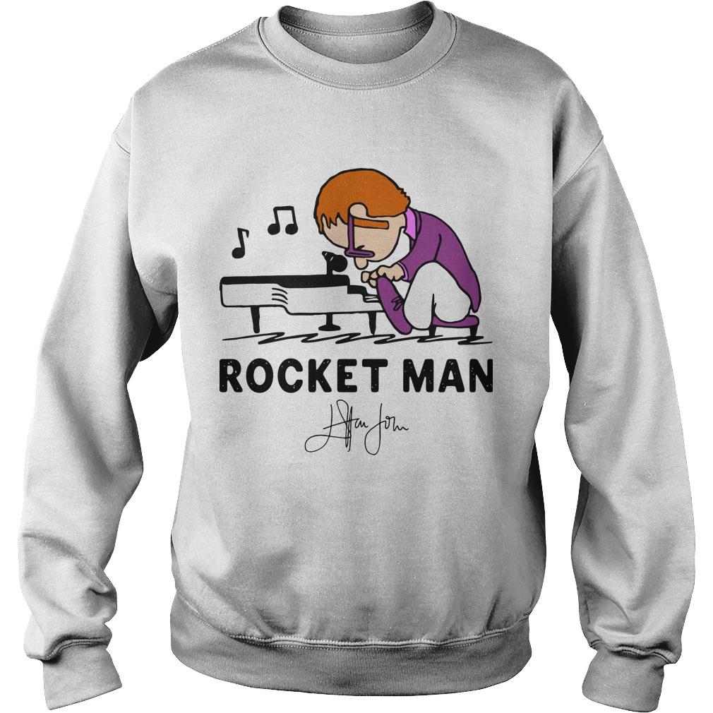 Rocketman Playing The Piano Signature Sweater