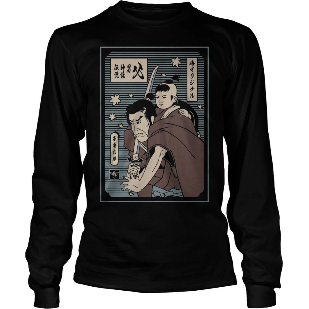 Samurai Papa The Man The Myth The Legend Longsleeve Tee
