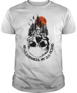 Skull Tree Sunset Hello Darkness My Old Friend Shirt