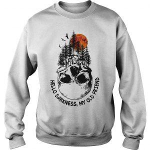 Skull Tree Sunset Hello Darkness My Old Friend Sweater