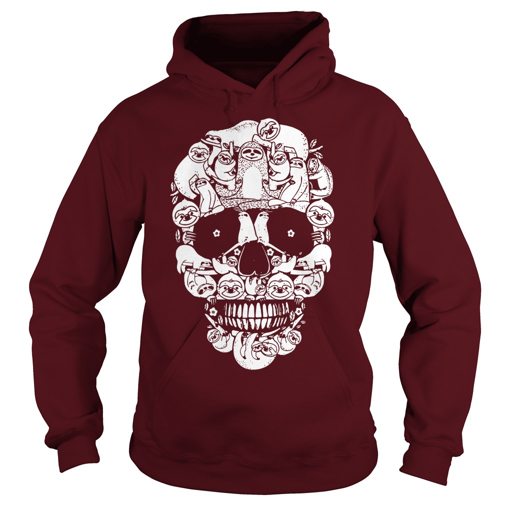 Sloth In The Skull Hoodie