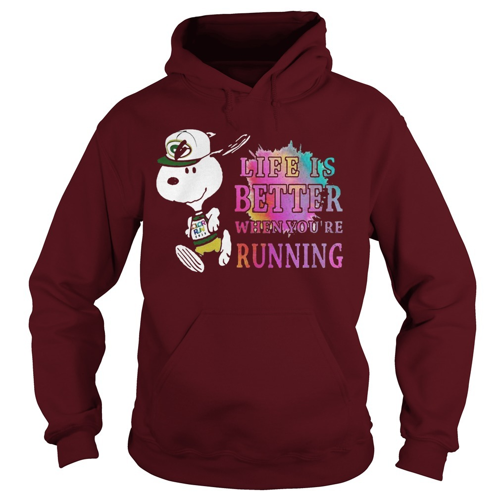 Snoopy Green Bay Packers Life Is Better When You're Running Hoodie