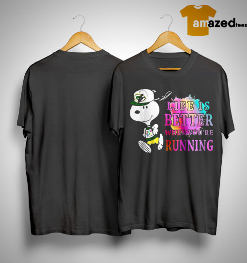 Snoopy Green Bay Packers Life Is Better When You're Running Shirt