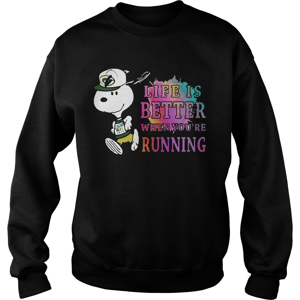 Snoopy Green Bay Packers Life Is Better When You're Running Sweater