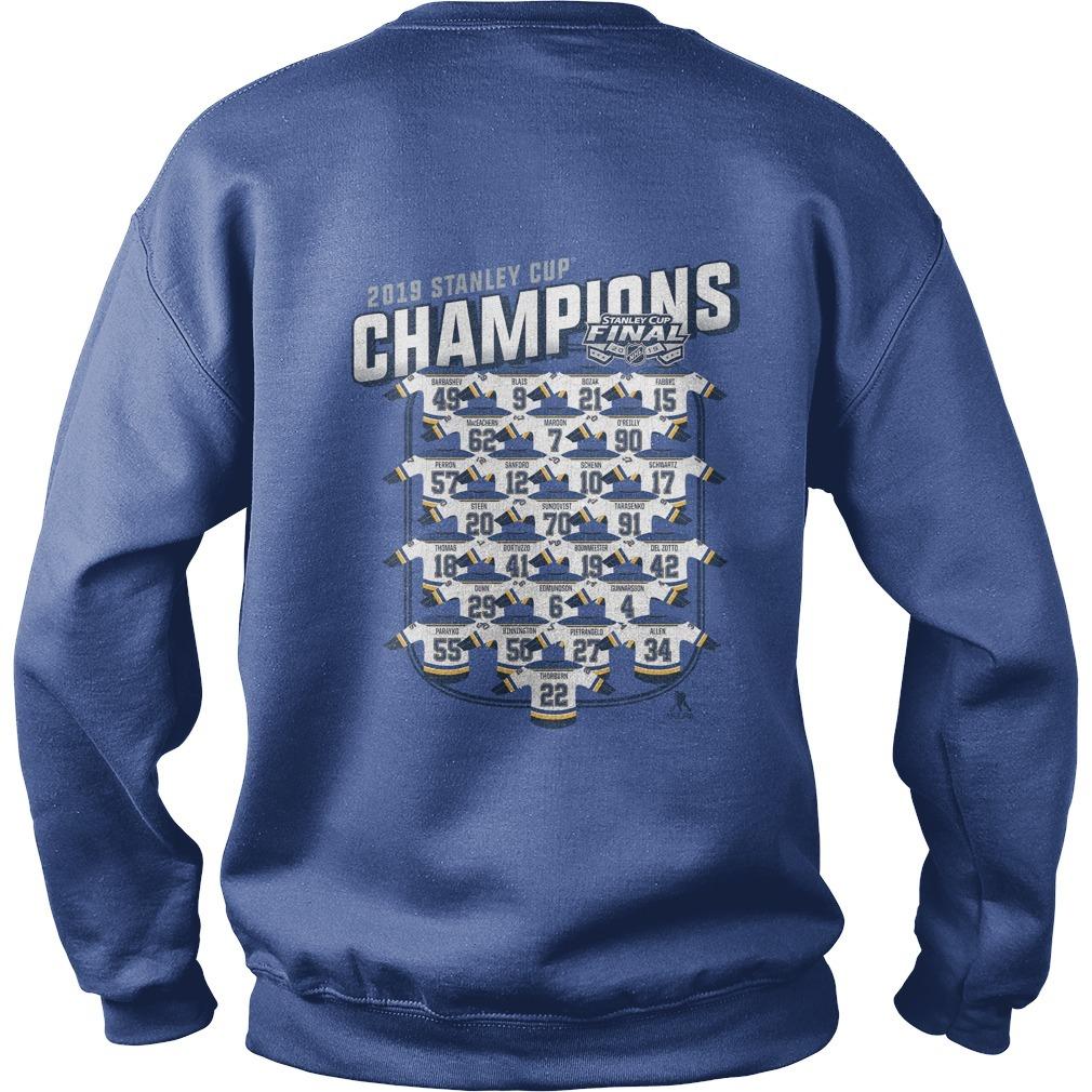 St Louis Blues Championship back Sweater