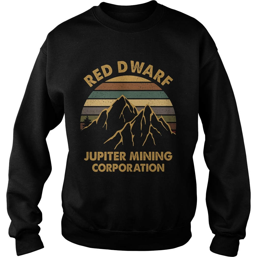 Sunset Red Dwarf Jupiter Mining Corporation Sweater