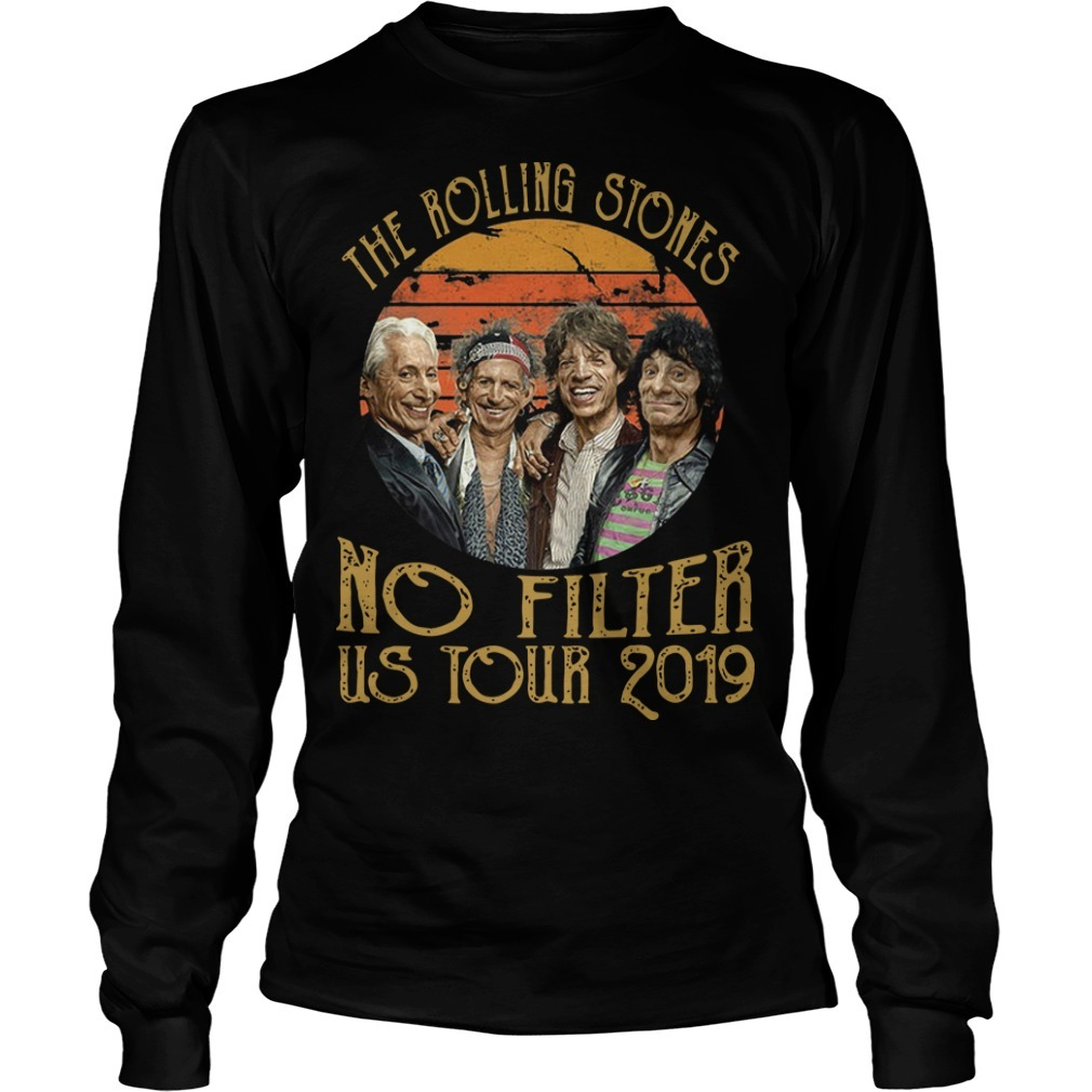 Sunset Vintage The Rolling Stones No Filter Us Tour 2019 Longsleeve Tee