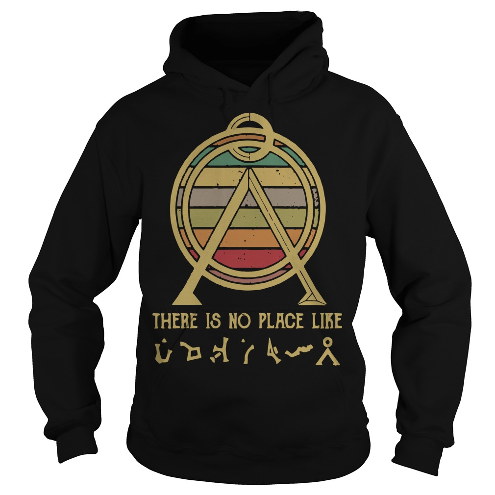 Sunset Vintage There Is No Place Like Terra Hoodie