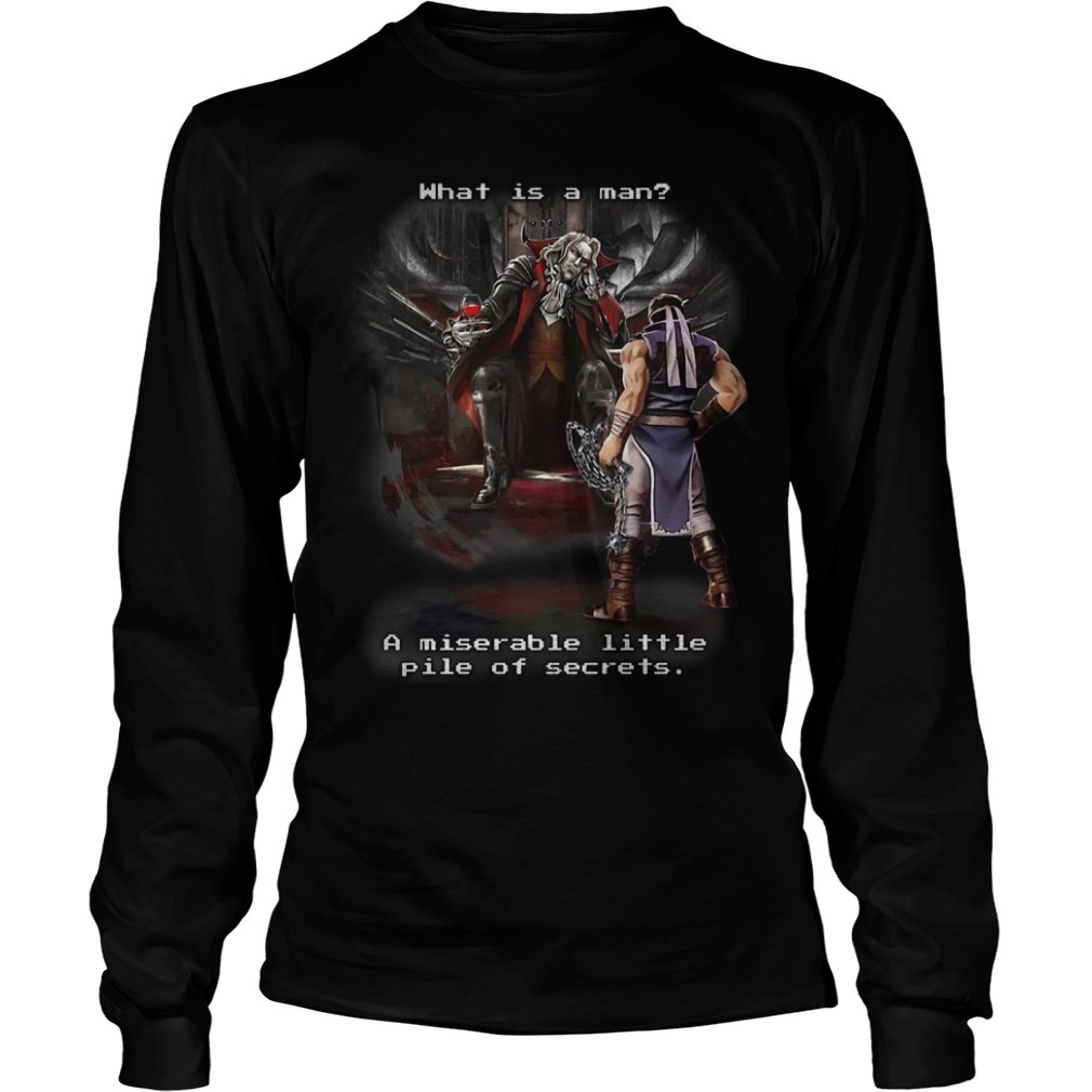 Symphony Of The Night What Is A Man A Miserable Little Pile Of Secrets Long Sleeve Tee