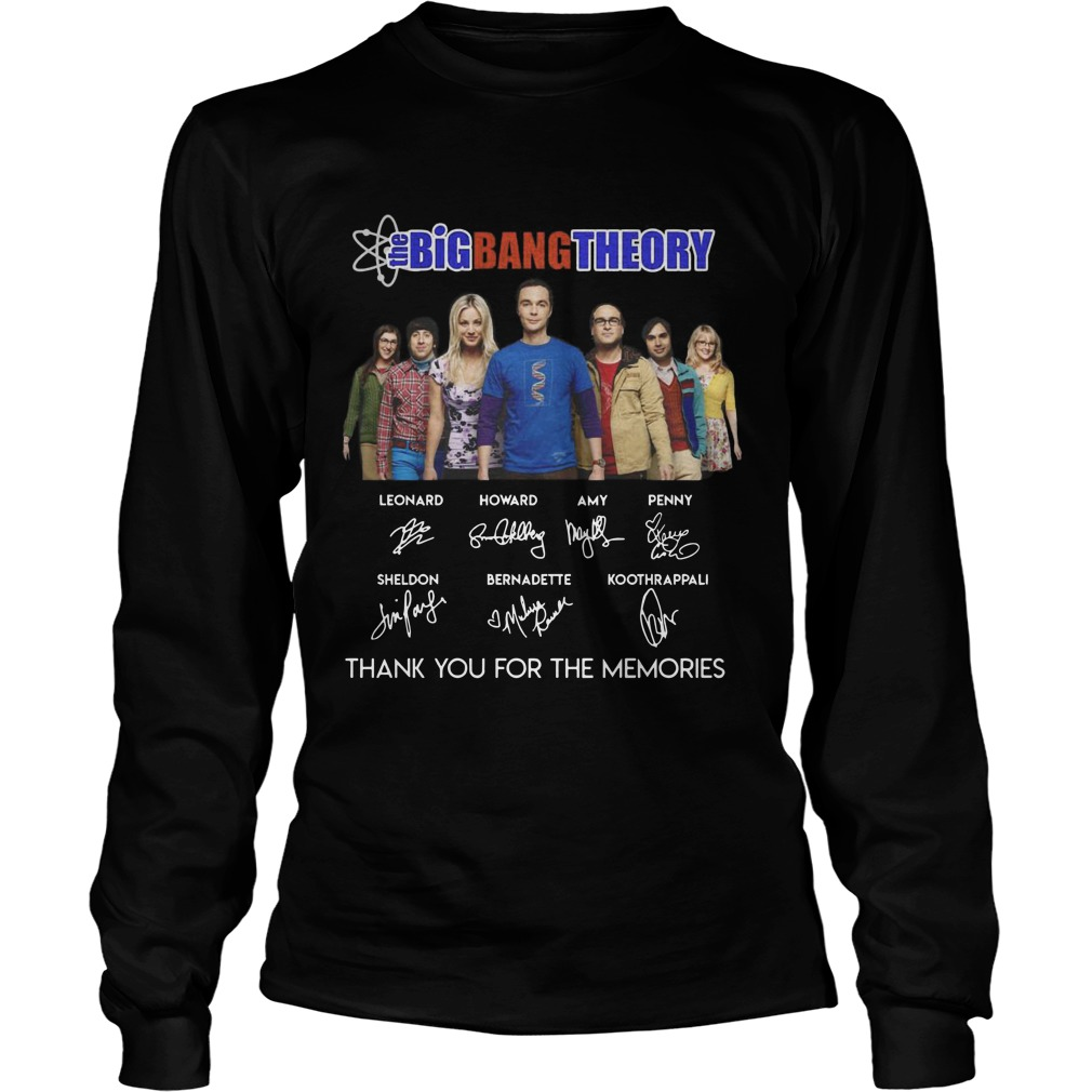 The Big Bang Theory Thank You For The Memories Signatures Longsleeve Tee