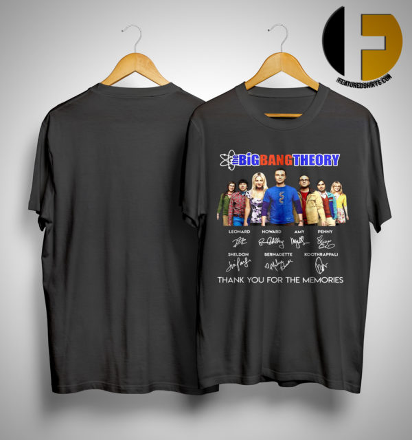The Big Bang Theory Thank You For The Memories Signatures Shirt