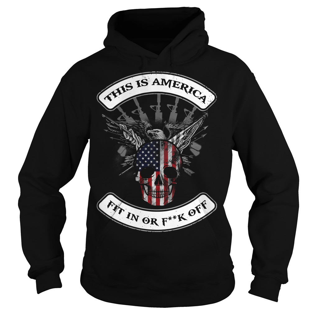This Is America Fit In Or Fuck Off Hoodie