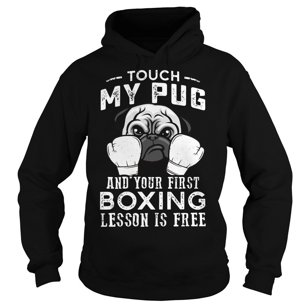 Touch My Pug And Your First Boxing Lesson Is Free Hoodie