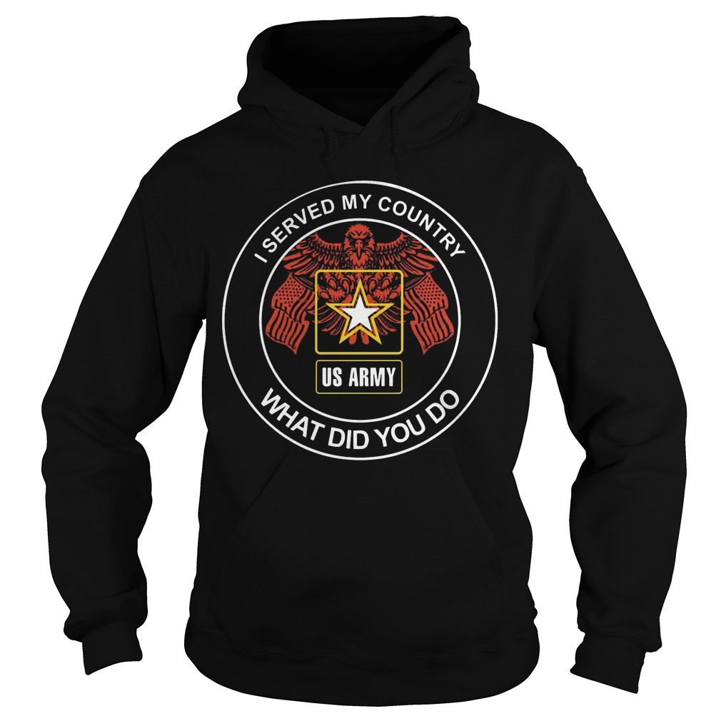 Us Army I Served My Country What Did You Do Hoodie