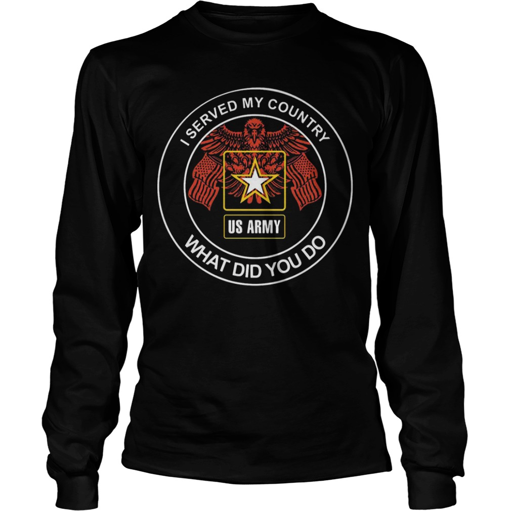Us Army I Served My Country What Did You Do Longsleeve Tee