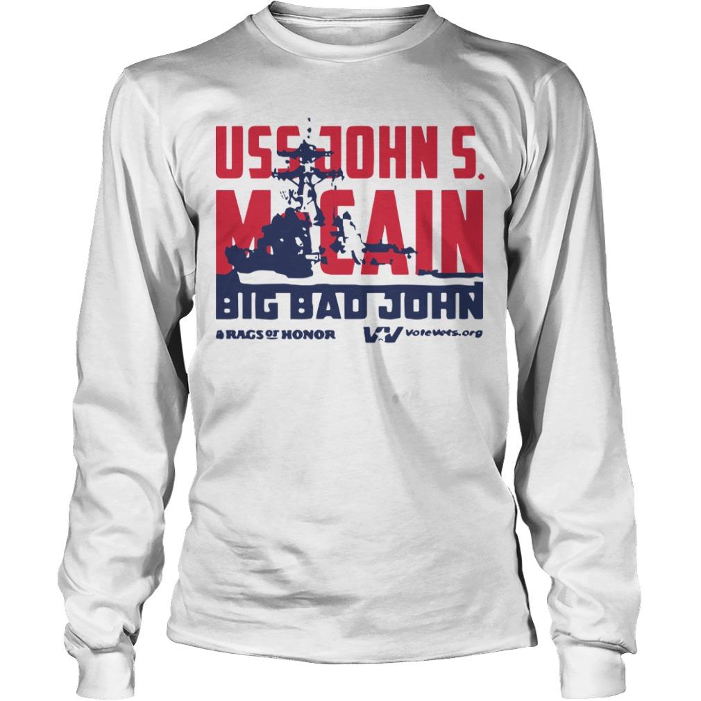 Uss John Mccain Big Bad John Longsleeve Tee