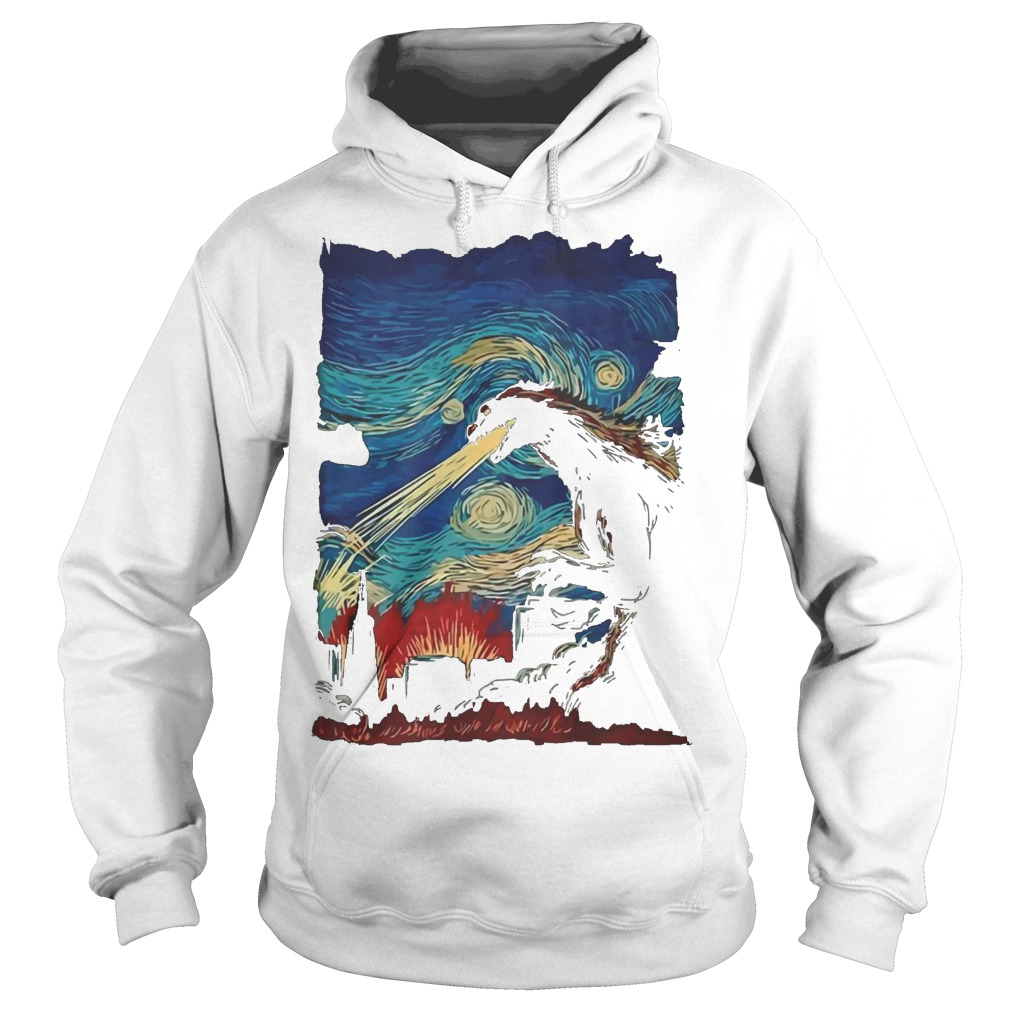 Van Gogh Godzilla Painting Hoodie